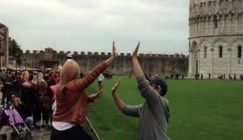 Trolleando a los turistas en Pisa