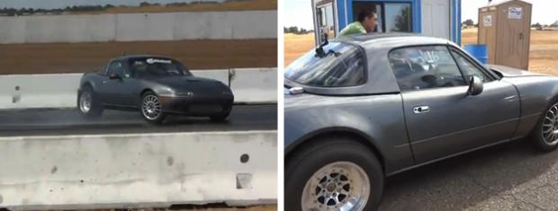 Pierde y recupera el control de su Mazda Miata RB26 a 225 km/h