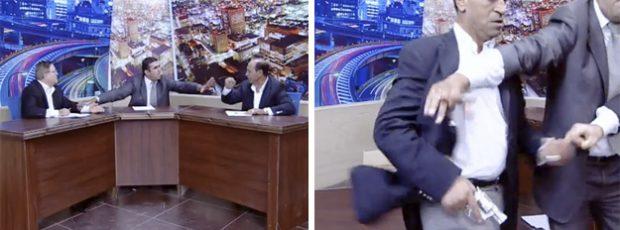 Un diputado jordano saca una pistola en un debate de televisión