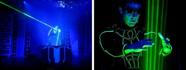 El mago Théo Dari se transforma en Laserman para hacer un impresionante show láser