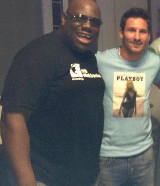 Leo Messi y Carl Cox en Space Ibiza