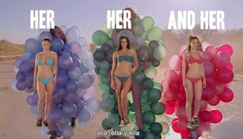 ¿Cómo sería este mismo vídeo grabado con tres espectaculares mujeres?