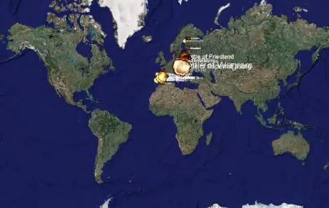 Campo de batalla mundial, 1.000 años de guerra en 5 minutos