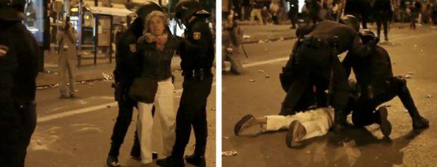 25-S: Detienen a una señora por estar grabando con el iPhone en la Plaza de Neptuno