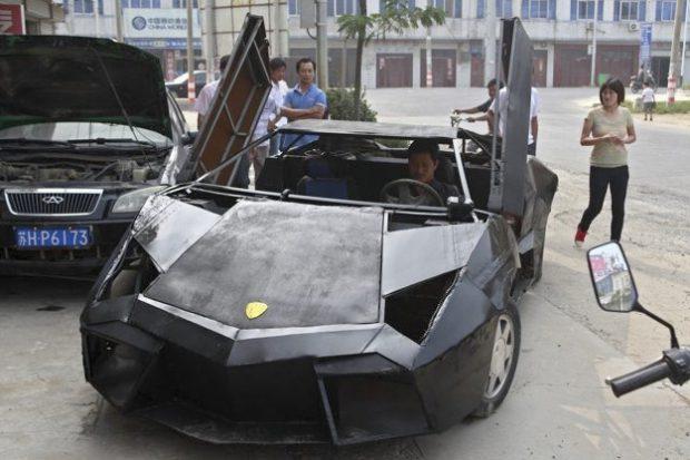 Un joven granjero chino construye su propio Lamborghini