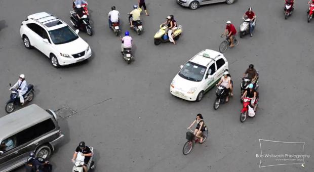 El tráfico en Vietnam