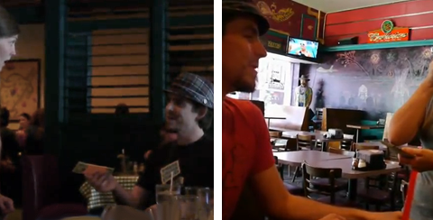 El deseo de Aaron Collins, dejar una propina de 500 dólares a un camarero por una pizza