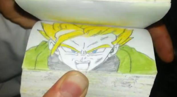 Alucinante flipbook de Dragon Ball