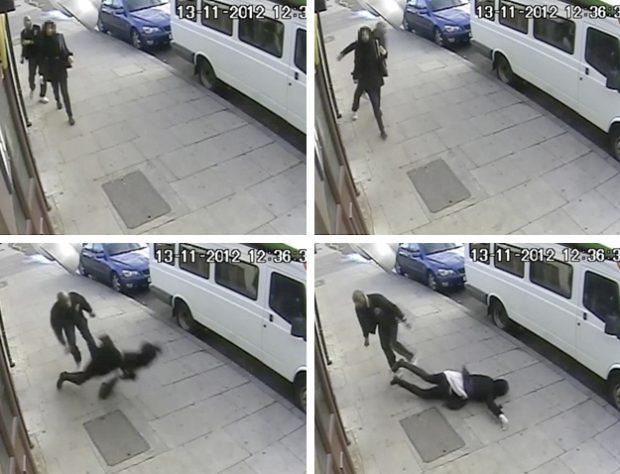 Un hombre golpea brutalmente a una niña de 16 años y la deja inconsciente en el suelo