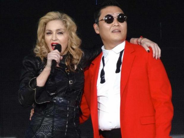 PSY aparece por sorporesa en un concierto de Madonna en Nueva York