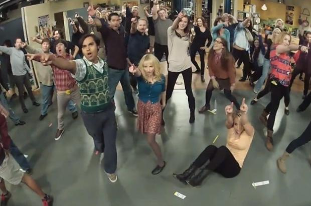 El flashmob de los actores de The Big Bang Theory