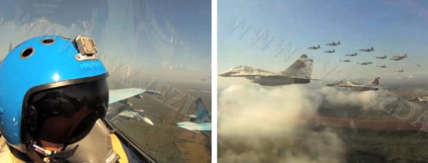 Espectaculares imágenes de más de 20 aviones de combate surcando los cielos
