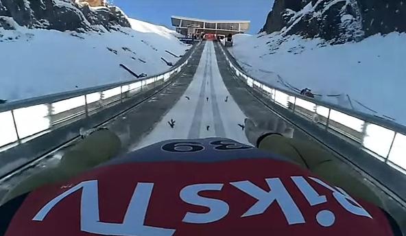 Jurij Tepes: Impresionante salto de esquí de 208,5 metros grabado con las cámaras de su casco