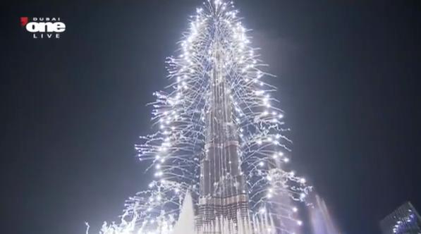 Impresionante exhibición de fuegos artificiales en Dubai para recibir al 2013