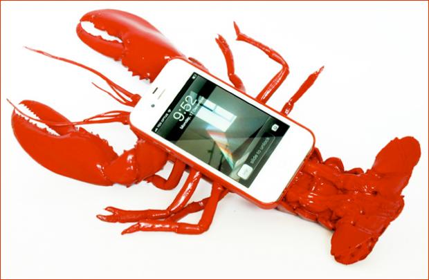 Funda en forma de langosta para el iPhone