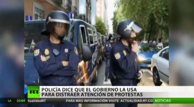 La Policía acusa al Gobierno de usarla para atraer la atención de las protestas