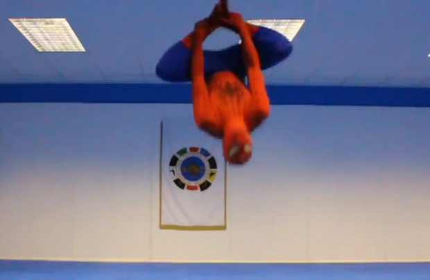 Así se entrena Spiderman