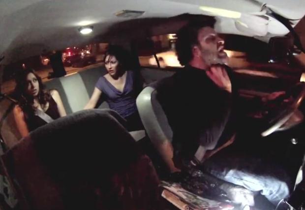 Aterradora cámara oculta en un taxi