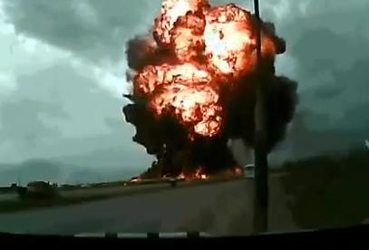 Espectacular vídeo del accidente de un avión de carga en una base militar en Afganistán