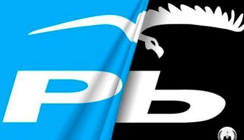 Anonymous coloca un buitre en la web del PP de Pontevedra