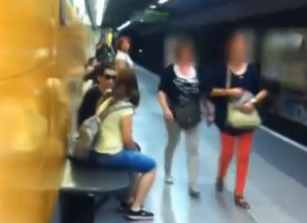 La cazacarteristas del metro de Barcelona en acción