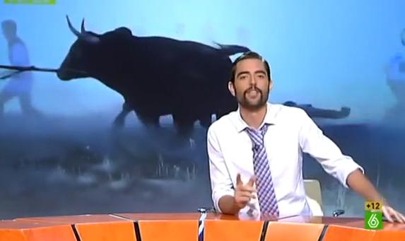 Donde nosotros vemos al Toro de la Vega, Mariló ve a la Vaca que ríe