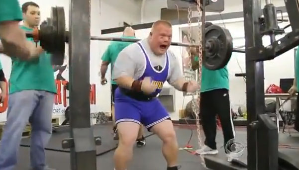 Un hombre con Síndrome de Down que se ha vuelto un atleta de élite
