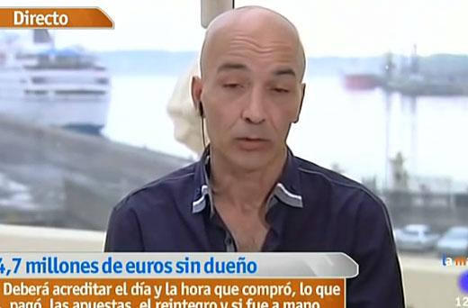 La mañana TVE: Antonio García dice que es el propietario del boleto perdido de la primitiva en A Coruña
