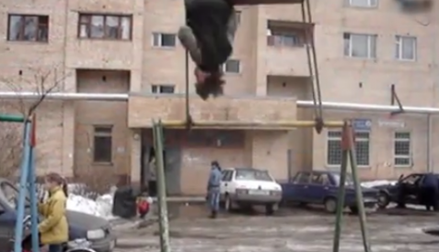 360º en un columpio. Rusia