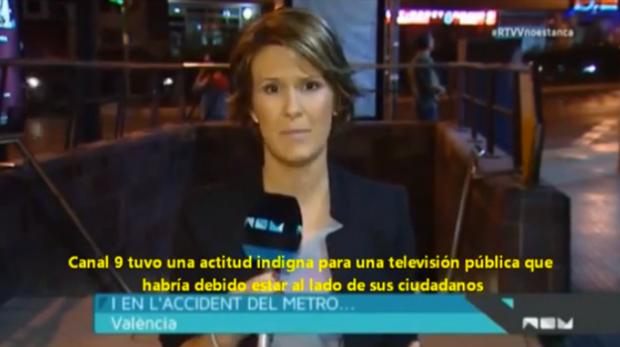 Canal 9 pide perdón a las víctimas del metro por silenciar el accidente bajo las órdenes del PP