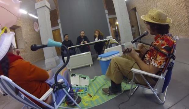 Potato Omelette Band en el casting de músicos callejeros de Madrid