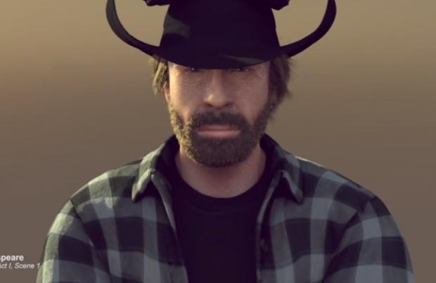 Un Chuck Norris animado parodia el anuncio de Van Damme para felicitar la Navidad