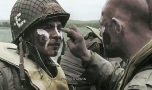 Imágenes reales en color del día D durante la Segunda Guerra Mundial (desembarco de Normandía)