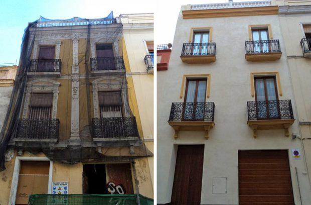Así se ''restaura'' en Sevilla