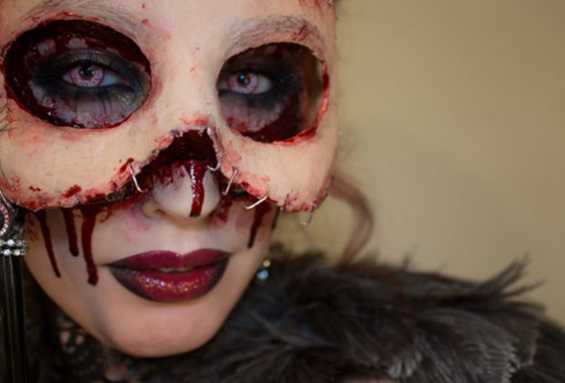 Una original y aterradora máscara para Carnaval