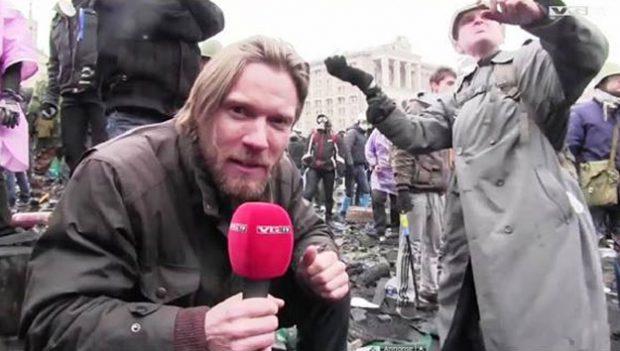 Diferencia entre un periodista reportero y un periodista funcionario de TVE en Kiev