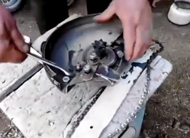 Cómo convertir una sierra radial en una sierra de cadena