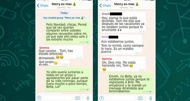 Feliz Navidad Siempre Asi.Agrego A Todas Sus Ex Novias A Un Grupo En Whatsapp Y Asi Es