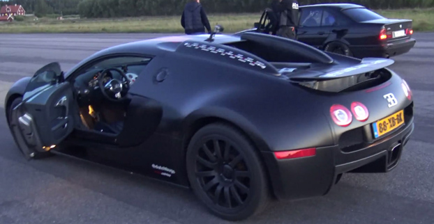 Un BMW M5 E34 le demuestra a un Bugatti Veyron quien manda