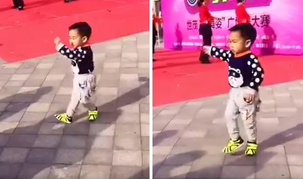 Este niño pequeño baila mejor que tú
