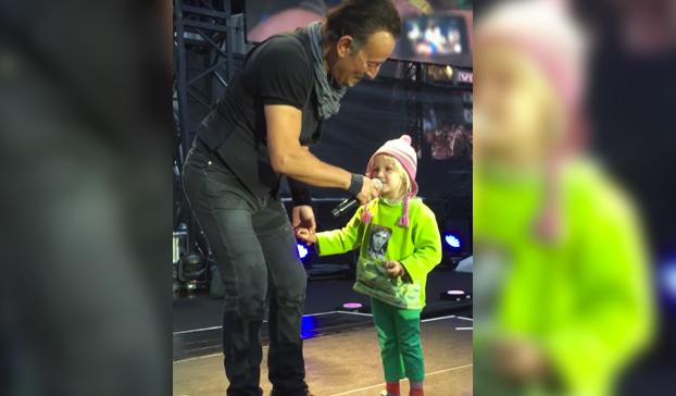 El dueto más tierno de Bruce Springsteen: Con una niña de 4 años
