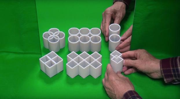 La ilusión óptica de los cilindros ambiguos