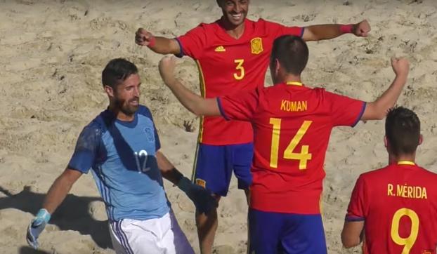 La Selección Española de Fútbol Playa aniquila a Francia con 11 goles
