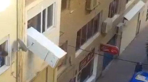 Un vecino de Motril lanza un frigorífico por la ventana