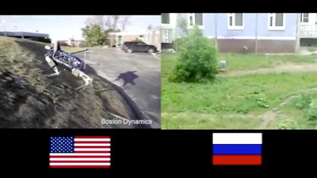 Robots americanos vs robots rusos