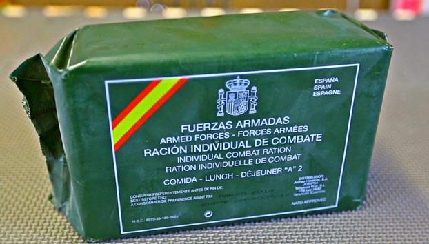 Esto es lo que comen los militares españoles cuando están en combate