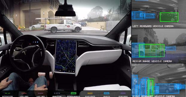 Esto es lo que ''ve'' el Autopilot de Tesla y así es como esquiva obstáculos