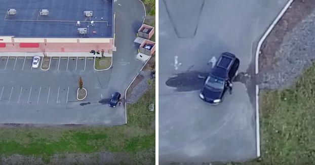 Sigue a su mujer con un drone y descubre cómo lo engañaba con otro (Vídeo)