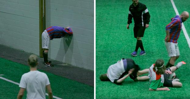 Drunk football: Partidos de fútbol en el que todos los jugadores están borrachos (Vídeo)