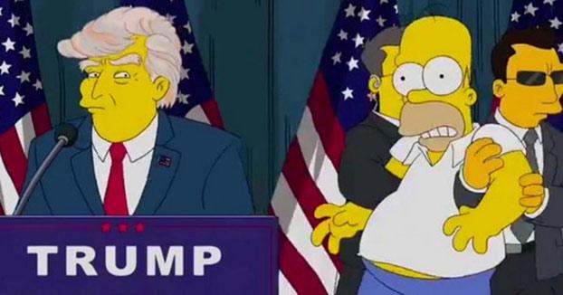 Los Simpson predijeron hace 16 años que Donald Trump sería presidente (Vídeo)
